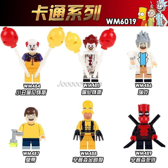 WM6019 Balloon clown superhero minifigure