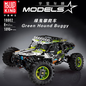 MouldKing 18002 Green Hound Buggy Remote Control Terrain Off-Road Climbing