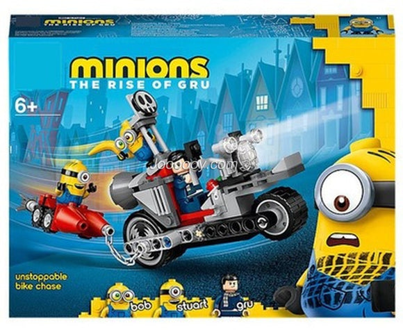 136PCS 81888 minions Unstoppable Bike Chase 75549