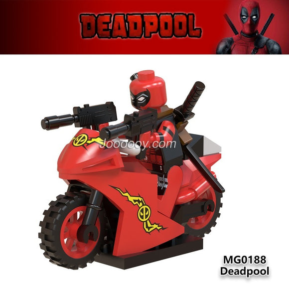 MG0188 Superhero series red deadpool minifigure