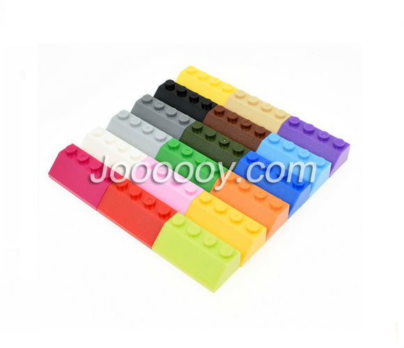 10 pcs 2*4 slopes MOC bricks