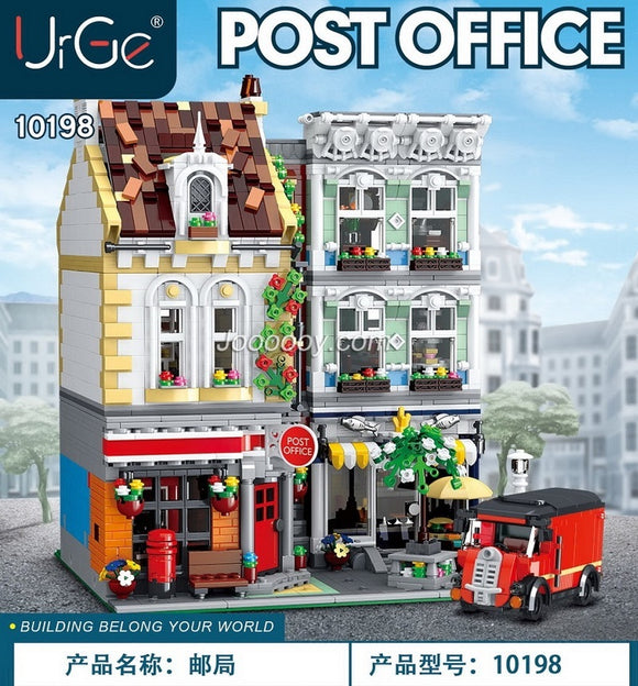 3716PCS MORK 10198 Brick Square Post Office