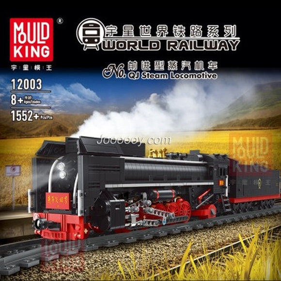 2160PCS Mould King12003 QJ Steam Locomotives
