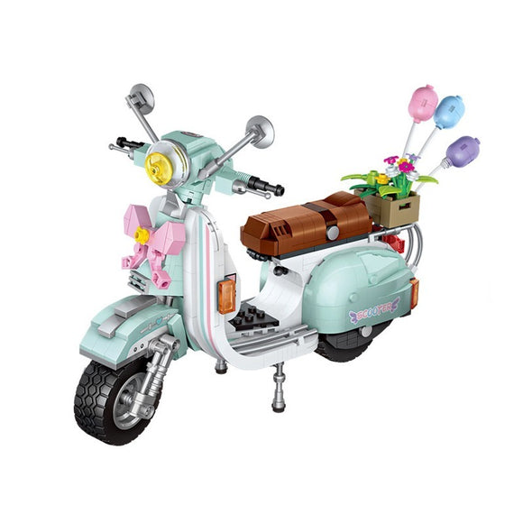 LOZ 1117 technic Mini sheep motorcycle modles city car