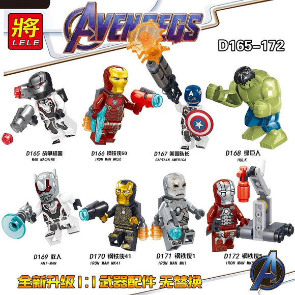The Avengers Superhero Series Mini figures D165-172