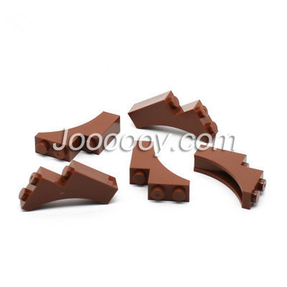 10 pcs 1*3*3 trunk MOC bricks