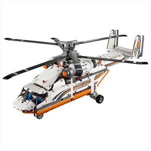 20002 Technic Series Compatible 42052 Heavy Lift Helicopter