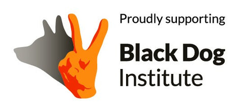 Proudly Supporting black Dog Institute logo