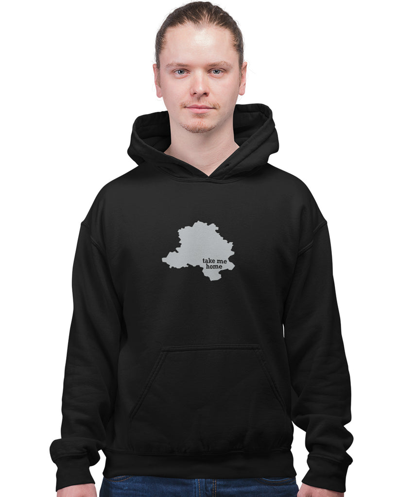 Delhi Take Me Home Black Hoodie For Men