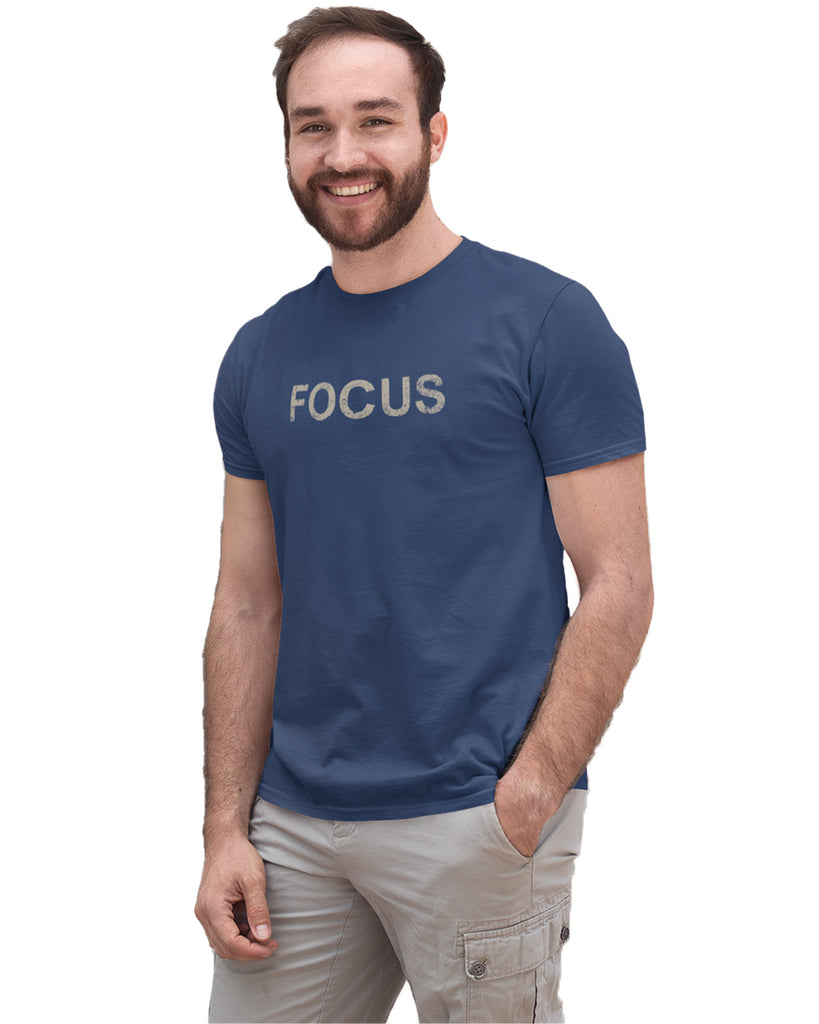 Focus Navy Blue T-Shirt For Men