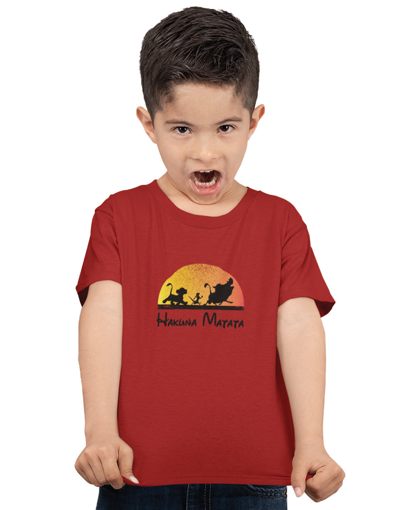 Hakuna Matata Prince Lion Red Color T-Shirt For Boys
