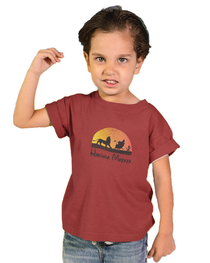Hakuna Matata Red Color T-Shirt For Boys