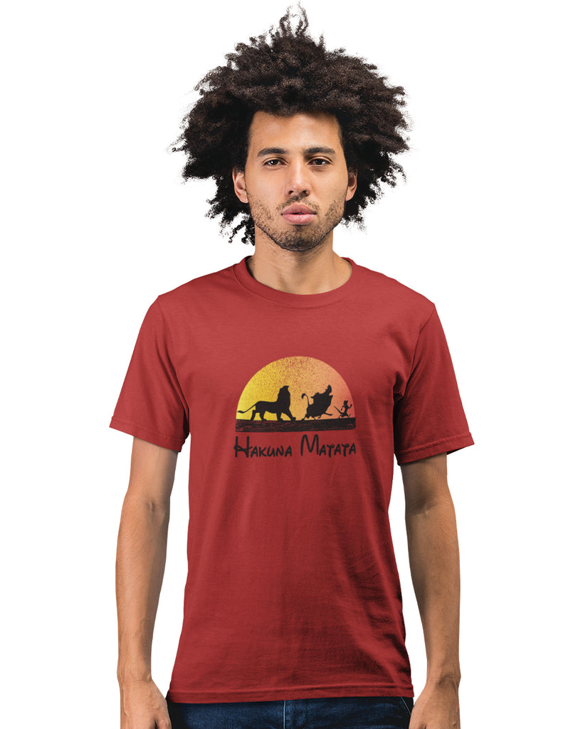 Hakuna Matata Red Color T-Shirt For Men