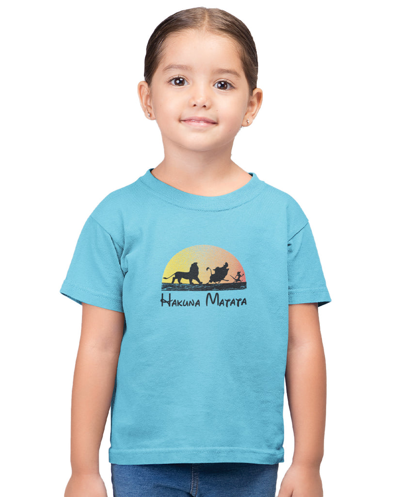 Hakuna Matata Sky Blue T-Shirt For Girls