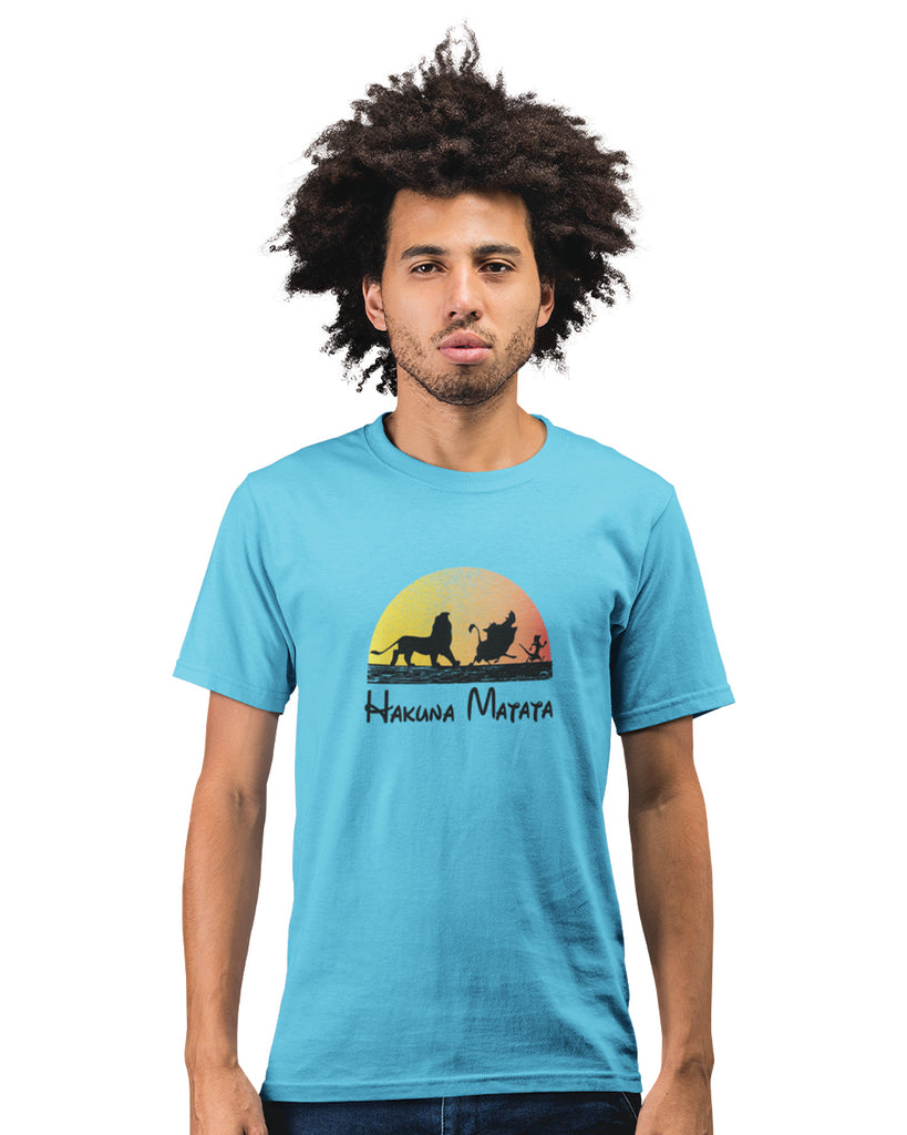 Hakuna Matata Sky Blue T-Shirt For Men