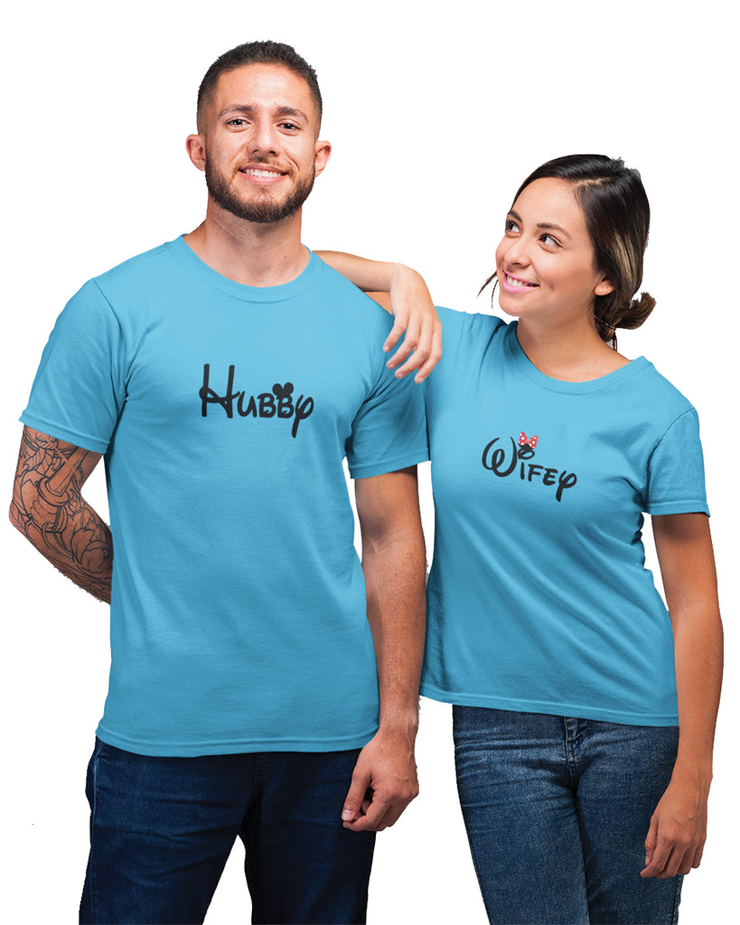 Hubby And Wifey Couple T-Shirt,thatchimp