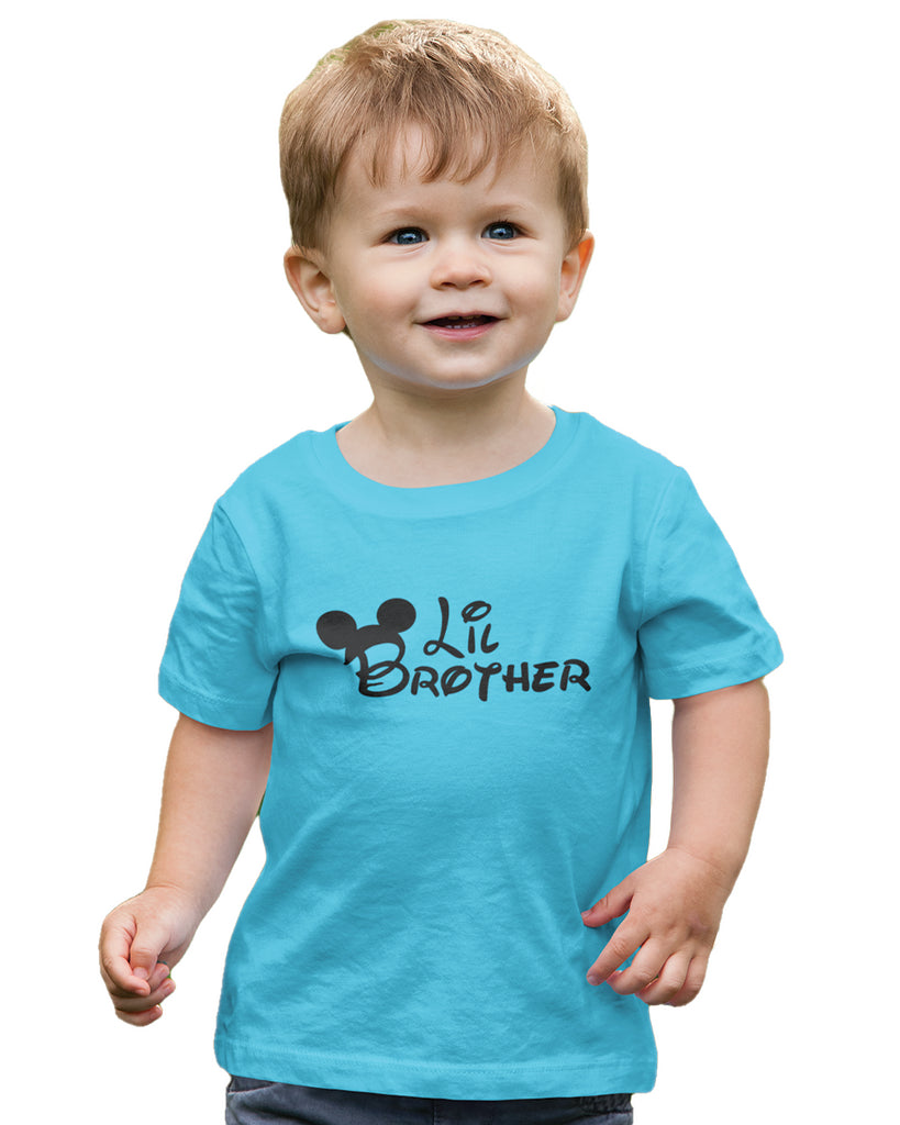 Lil Brother Sky Blue T-Shirt For Boys