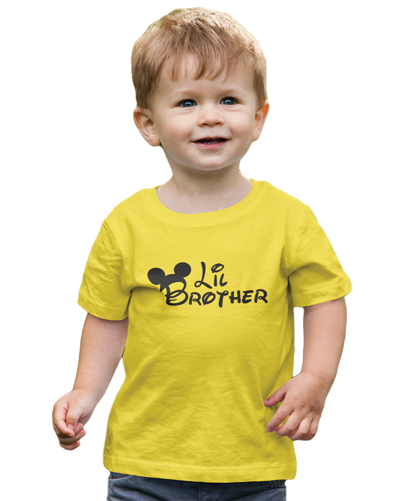 Lil Brother Yellow Color T-Shirt For Boys