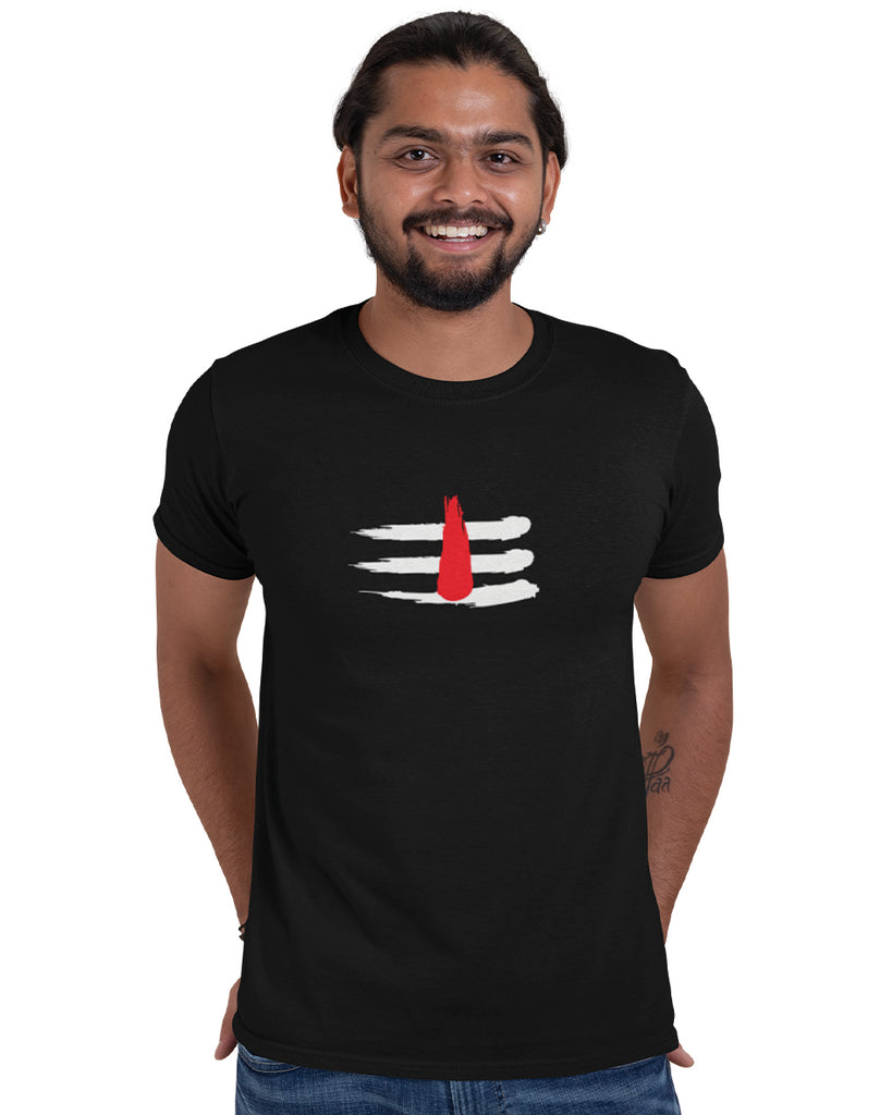 Mahakaal Black Color T-Shirt For Men