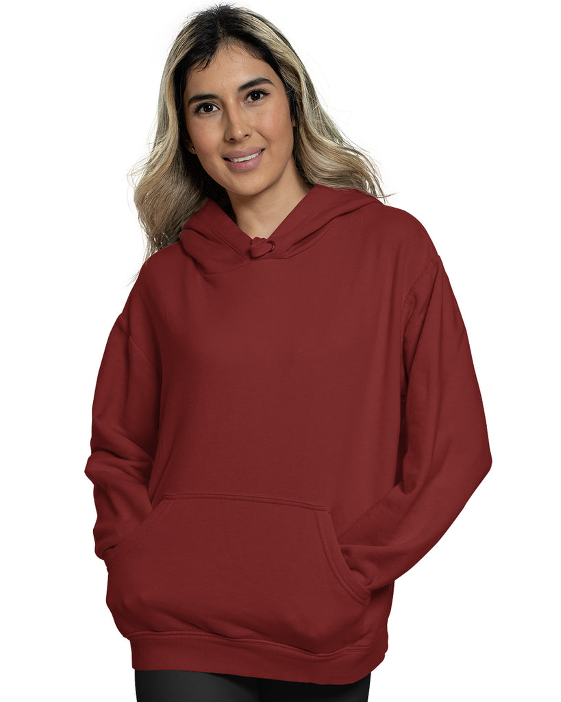 Maroon Color Plain Hoodie For Women