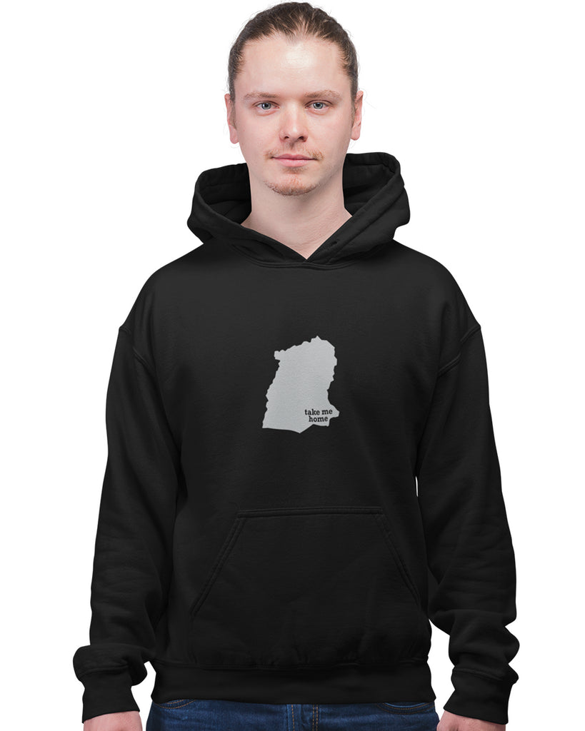Sikkim Take Me Home Black Hoodie For Men