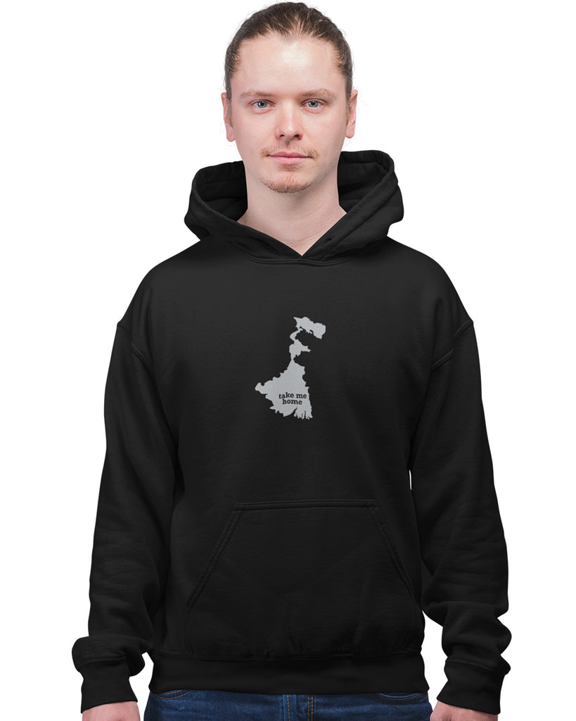 West Bengal Take Me Home Black Hoodie For Men