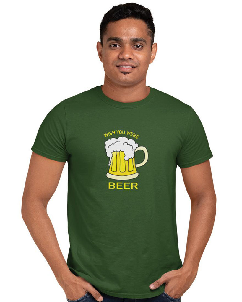 Wish You Were Beer T-Shirt For Men