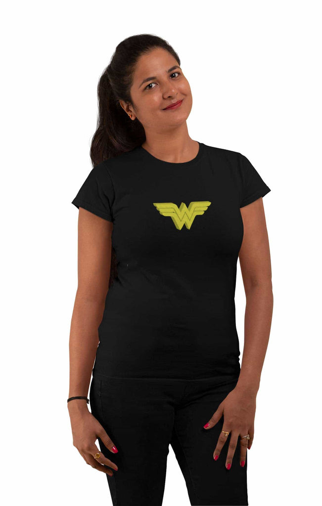 Wonder Woman Black Color T-Shirt For Women - ThatChimp