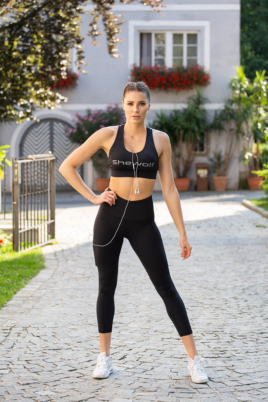 High Waist 7/8 Sport Leggings Black Panther
