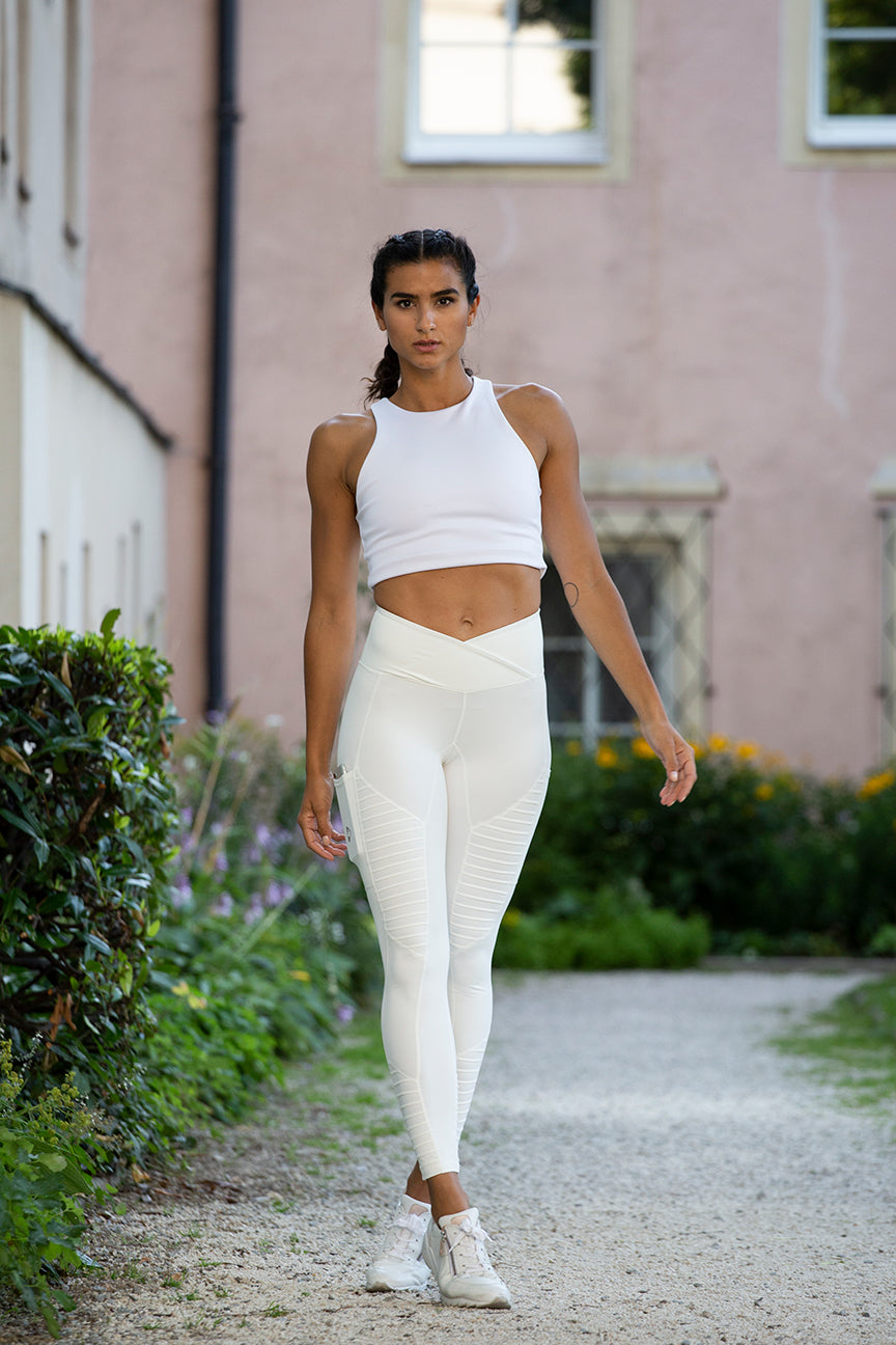 7/8 Yoga Tights Ivory