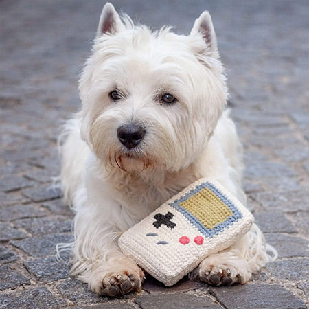 Retro game console hook dog toy