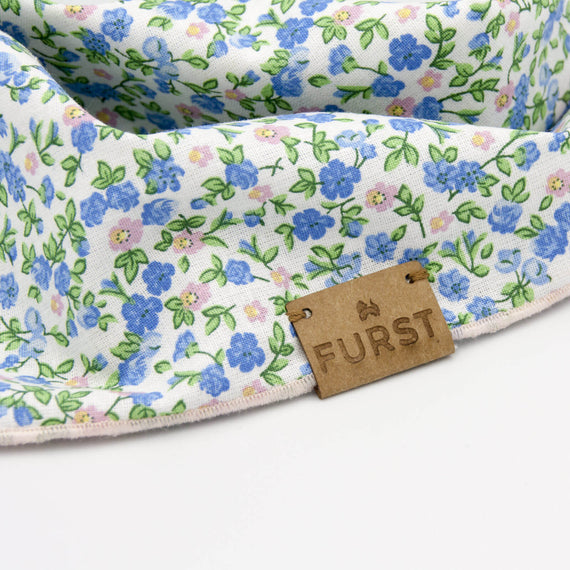 FURST - Vegan leather label on a luxury bandanna for cats