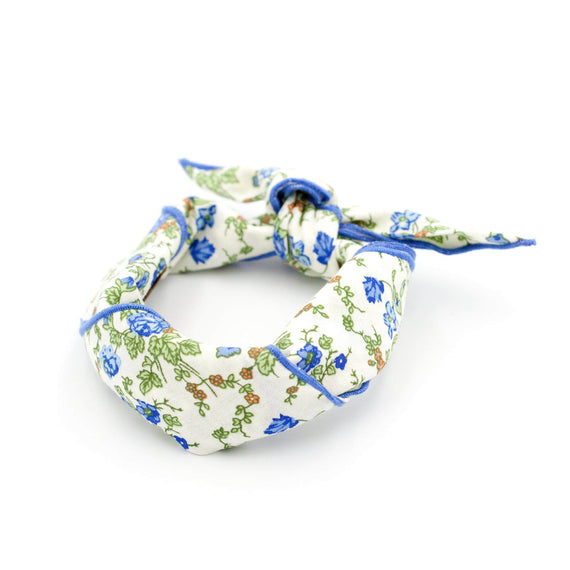 FURST - Flowery scarf for cat tied in headband in 100% cotton