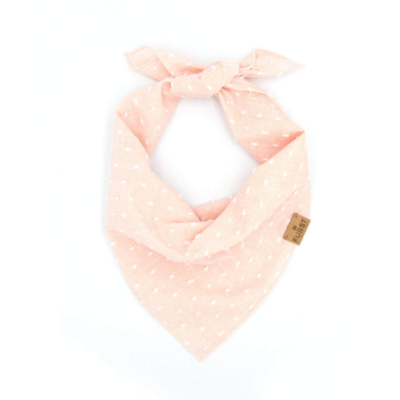 FURST - Pink cotton bandana with plumetis
