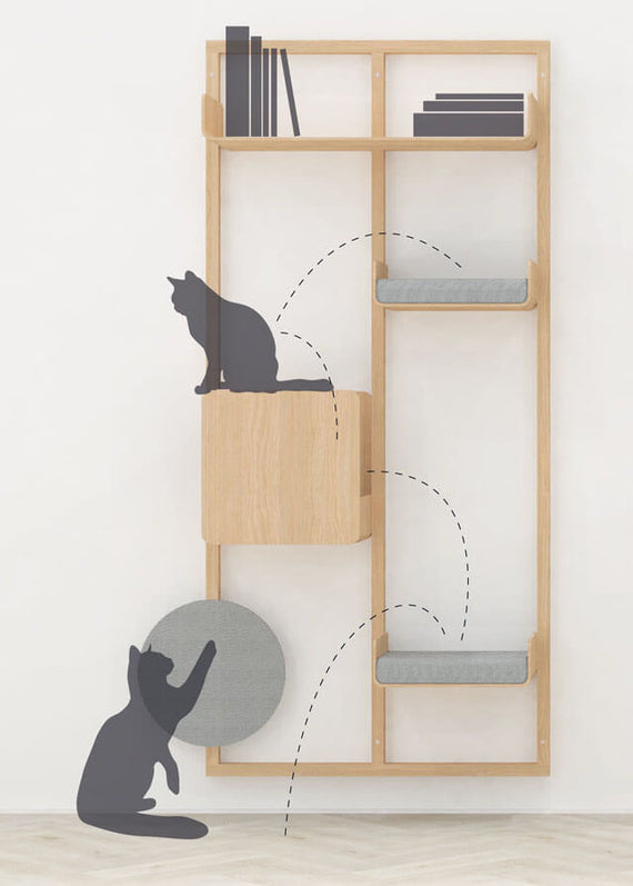 FURST - Arbol para gatos alto de pared con configuración PROGRESS