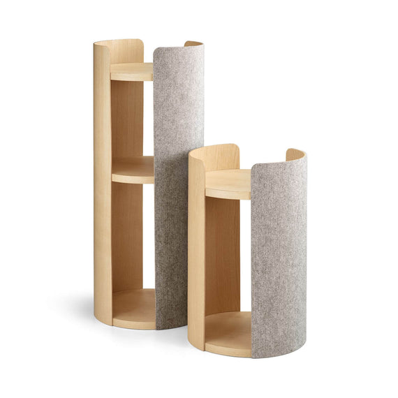 FURST - Small and large towers of the design cat tree in beige ash