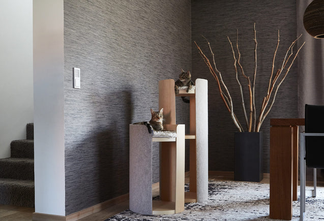 FURST - Schönes Design Cat Tree Duo in einem modernen Interieur