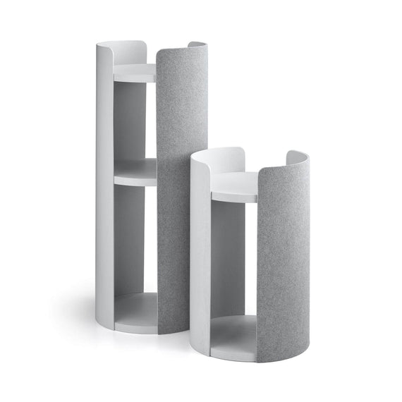 FURST - Small and tall towers of the design cat tree torre in ash gray color