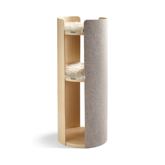 FURST - Large tower of the cat tree torre beige ash with Lana cushion (accessory sold separately)