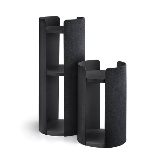 FURST - Small and large towers of the luxury cat tree in ash black color