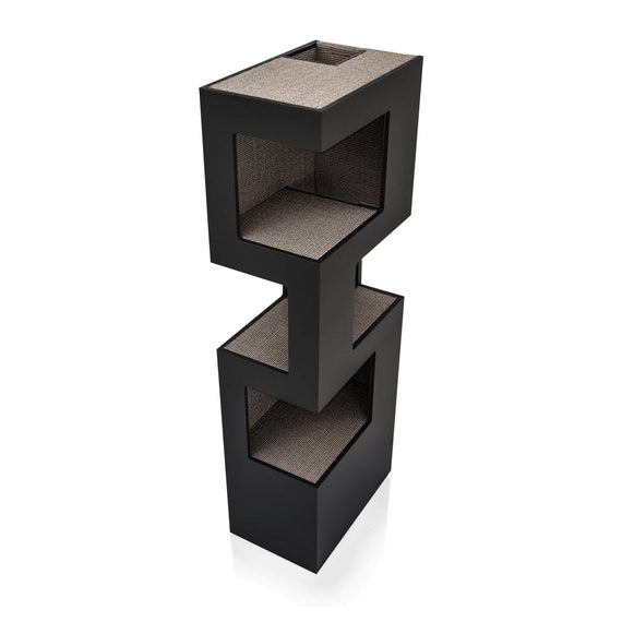 FURST - Very elegant high-end design cat tree in anthracite color and in silver sisal