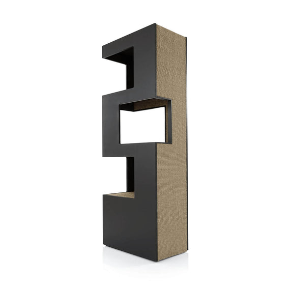 FURST - Very elegant high-end design cat tree in anthracite color and in beige sisal