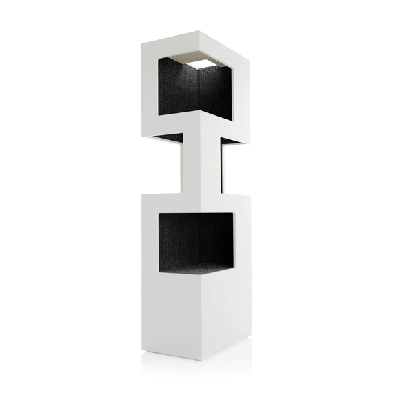 FURST - Very elegant high-end design cat tree in white and anthracite sisal color