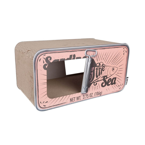 FURST - Upscale scratcher in the shape of Sardines Box and original scraper for natural peach cat