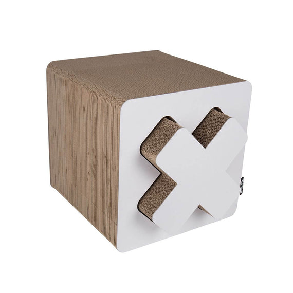 FURST - Upscale Cube-shaped scraper and original natural scraper for white cat