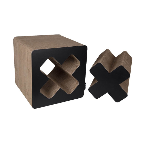 FURST - Upscale scraper in the shape of a Cube and original natural scraper for black cat
