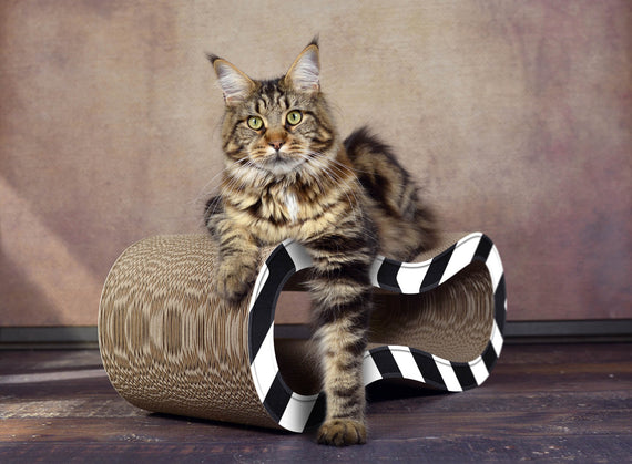 FURST - Scrapbook upscale e raschietto originale naturale per gatto color zebra