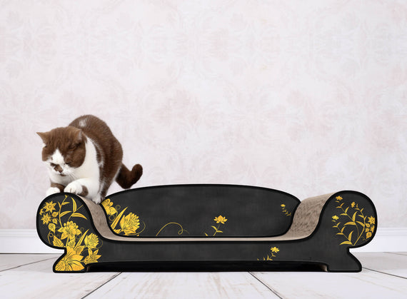 FURST - Scrapbook upscale and original scraper natural for black cat with golden asian flower