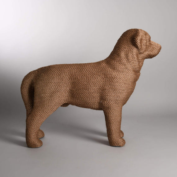 FURST - Modern cat scratching post and dog-shaped design in brown color