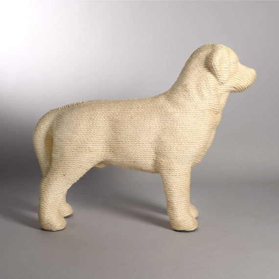 FURST - Modern cat scratching post in the shape of a dog in natural color